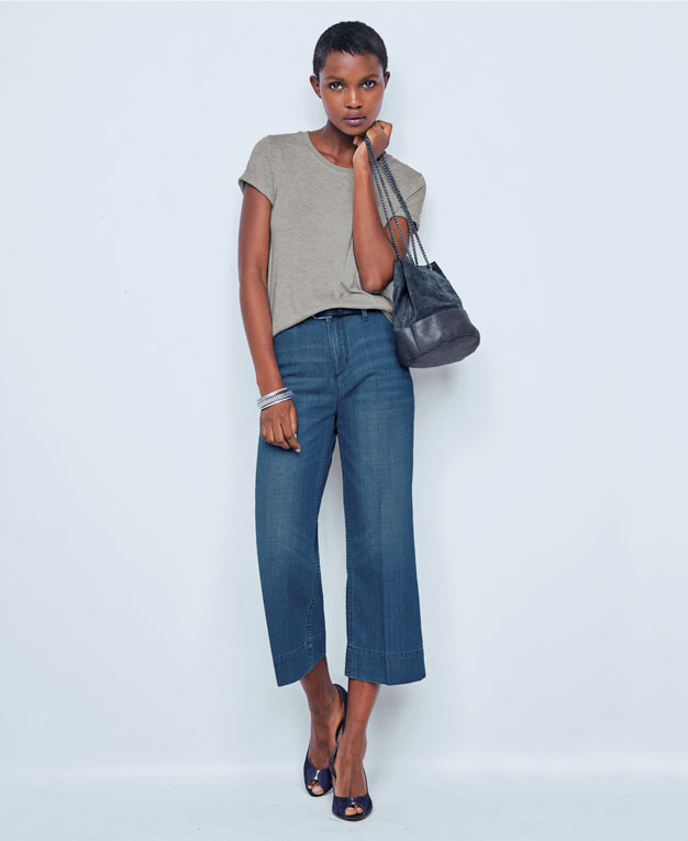 Le denim cropped