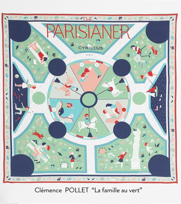 Foulards Parisianer