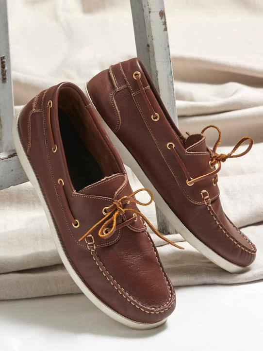 Homme-Chaussures bateau cuir homme