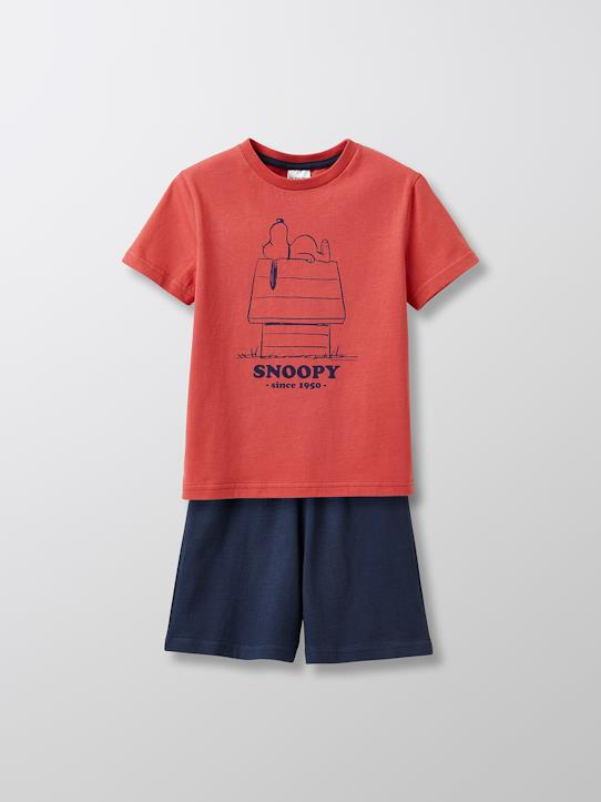 Garçon-Pyjamas-Pyjashort Enfant Cyrillus X Peanuts® - Collection Snoopy