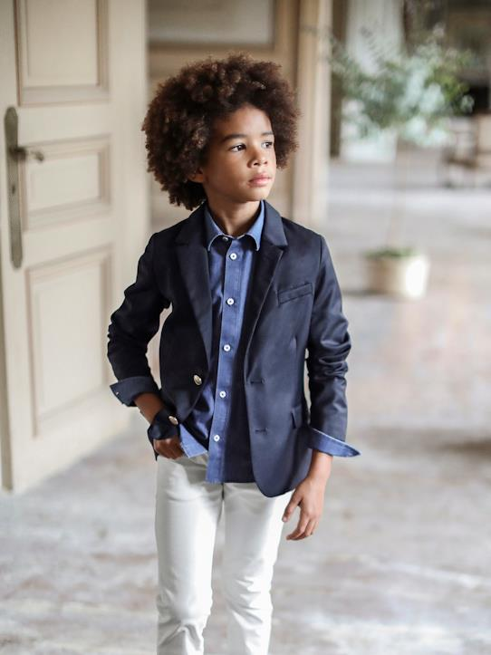 New hope-Veste blazer super 100 garçon