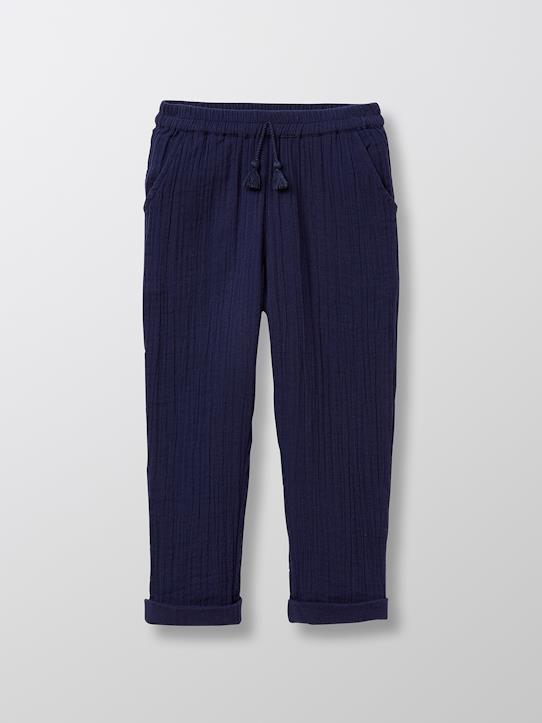 Les looks d'été-Fille-Pantalon coton double gaze fille