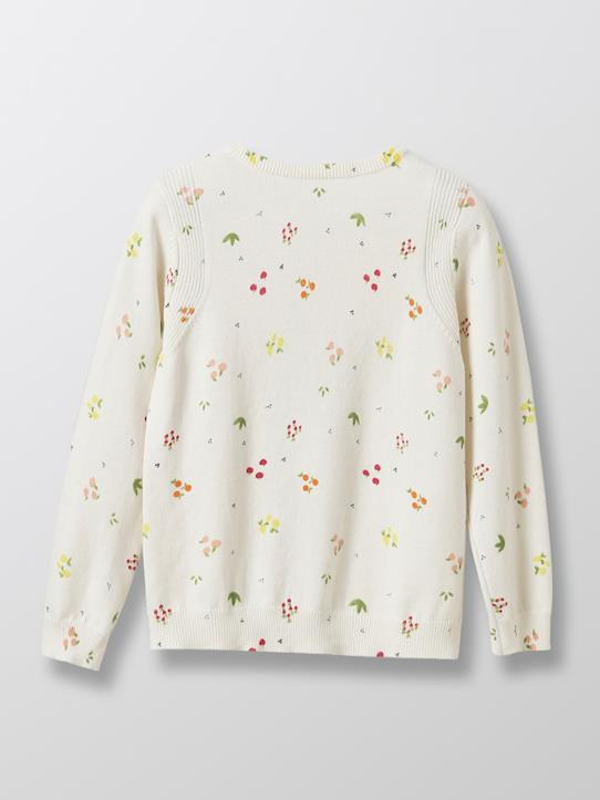 Cardigan détails brillants fille Imprimé fruits+Marine+Rose pâle chiné