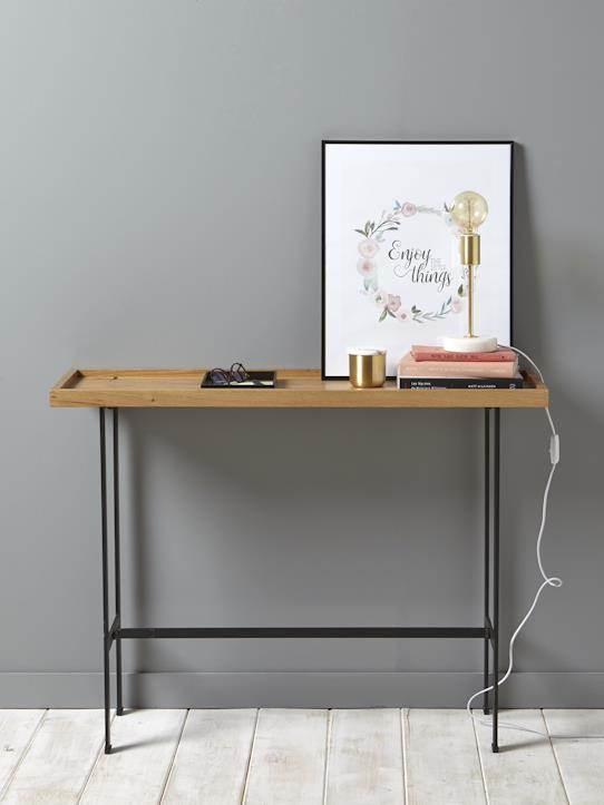 console bois et m tal naturel m tal noir maison vetement et d co cyrillus. Black Bedroom Furniture Sets. Home Design Ideas