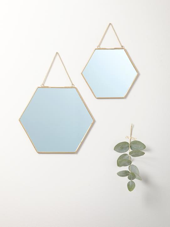 La Collection Automne-Maison-Miroir doré par lot de 2