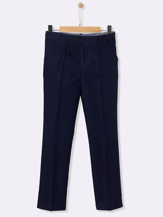 Le denim-Garçon-Pantalon lin/coton : collection fête