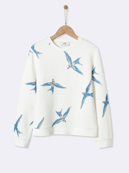 La Collection Automne-Fille-Sweat oiseaux fille