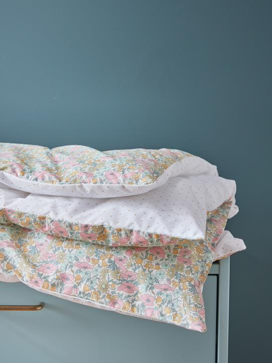 Housse en tissu Liberty pour boutis Liberty Betsy+Liberty Poppy and Daisy/pois d