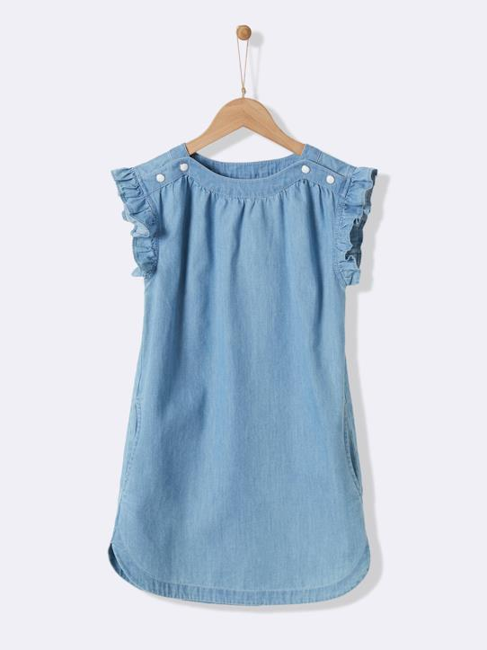 Fille-Robe en denim light fille