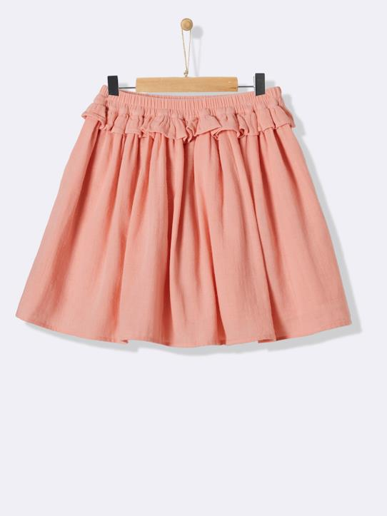 Fille-Jupes-Jupon en coton double gaze fille