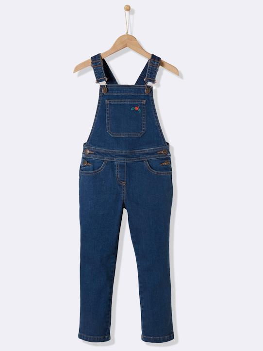 bf1100c7a2052 Salopette denim fille