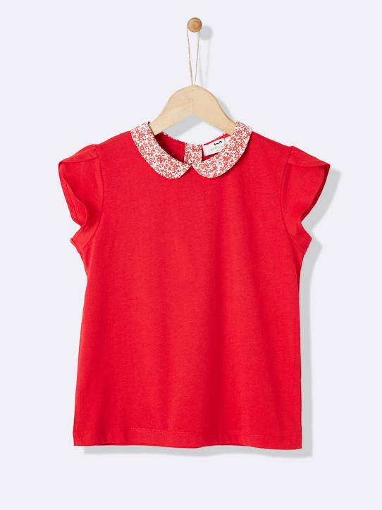 Fille-T-shirts, polos-T-shirt col fantaisie fille