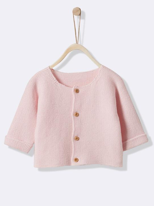 La Collection Printemps-Cardigan point mousse bébé