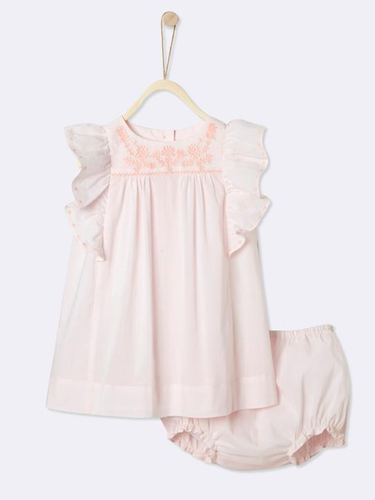 La Collection Printemps-Robe brodée bébé