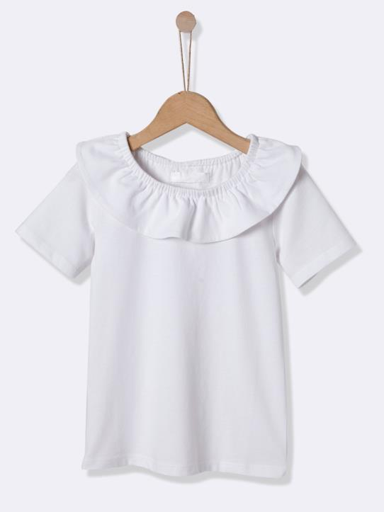 Fille-T-shirt col pierrot fille