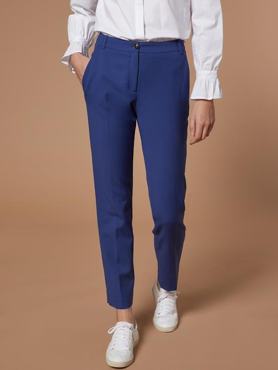 La Collection Printemps-Pantalon cigarette femme en maille milano
