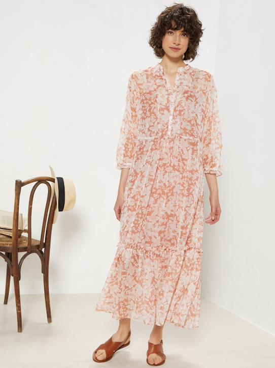 La Collection Printemps-Robe longue femme en voile