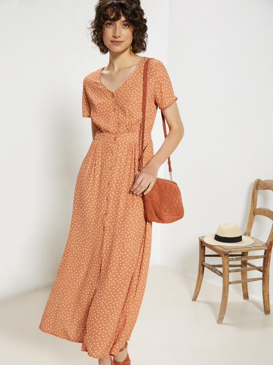 La Collection Printemps-Robe longue femme imprimé pois