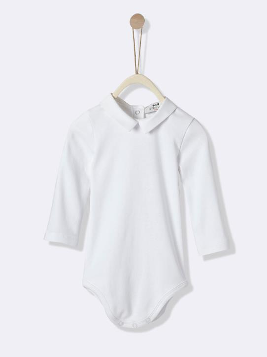 Body col en oxford bébé Blanc