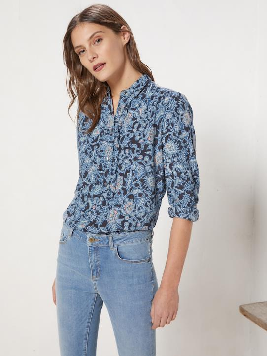 La Collection Printemps-Blouse femme en crêpe