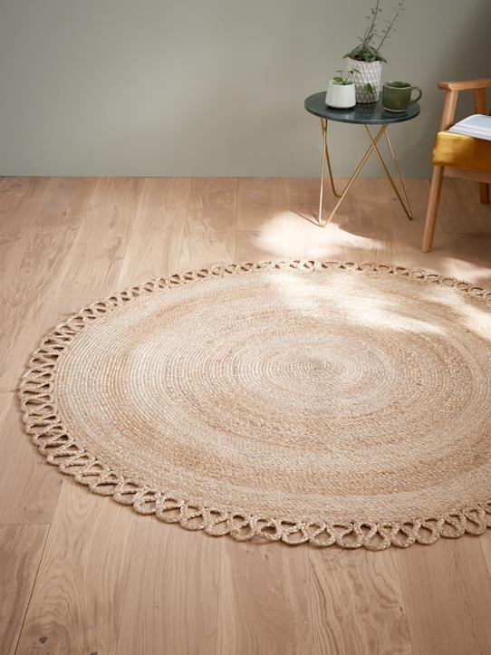tapis rond en jute naturel maison vetement et d co cyrillus. Black Bedroom Furniture Sets. Home Design Ideas