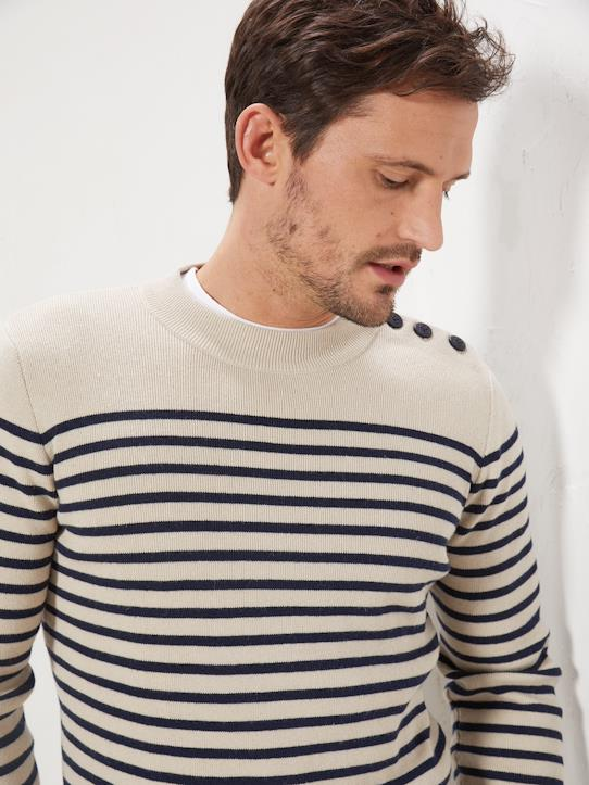 La Collection Printemps-Homme-Pull marin rayé homme