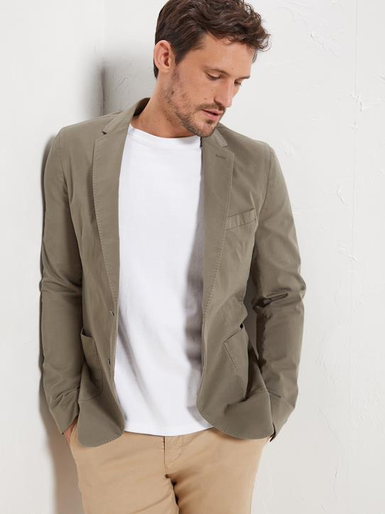 La Collection Printemps-Homme-Veste ajustée homme en coton stretch