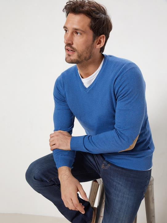 La Collection Printemps-Homme-Pull col V homme coton/soie/cachemire