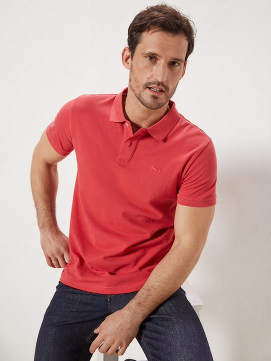 Homme-T-shirts, polos-Polo homme en maille piquée