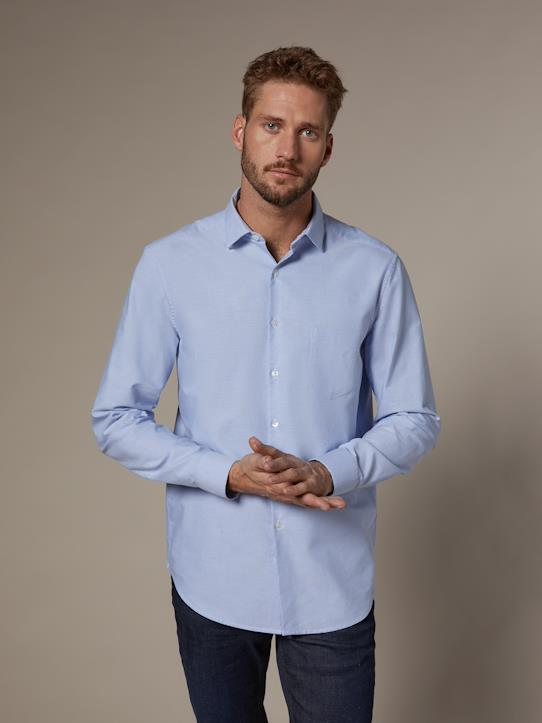 Homme-Chemises-Chemise Regular Fit homme en Oxford uni