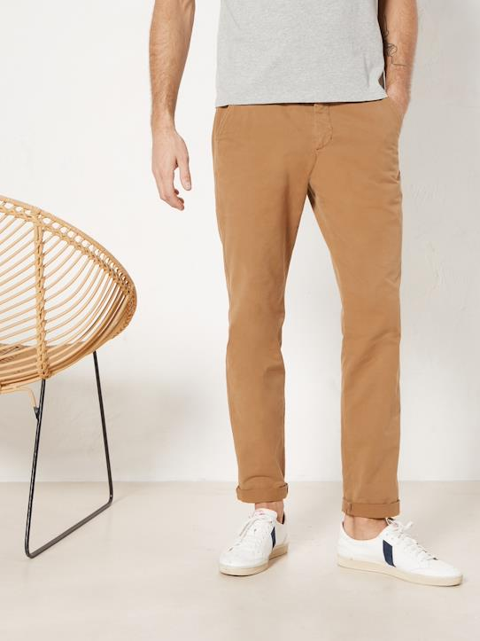 Homme-Pantalons, jeans-Chinos regular, droit-Pantalon chino regular fit homme