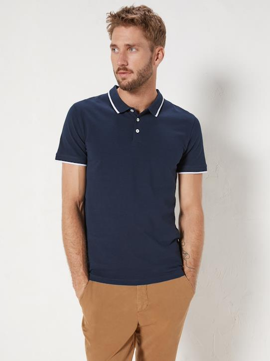 Homme-T-shirts, polos-Polo bicolore homme