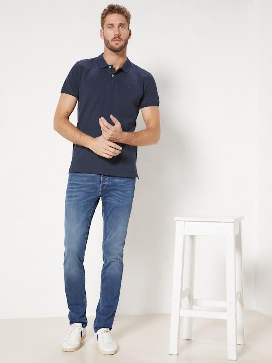 Jean homme super stretch Bleu denim+Stone