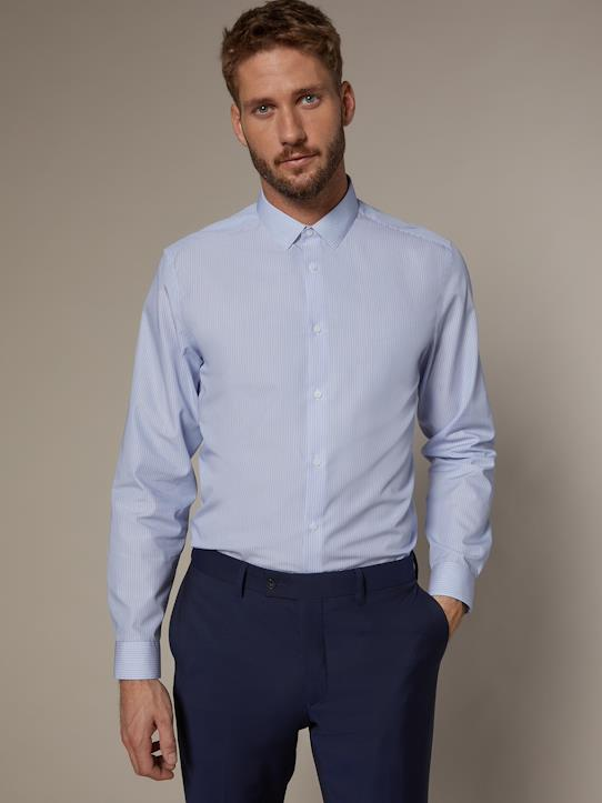Homme-Chemises-Chemise Slim Fit rayée homme non iron