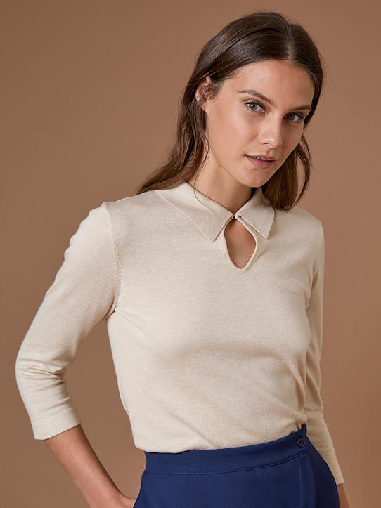 Femme-Pulls, gilets-Pulls-Pull femme col polo