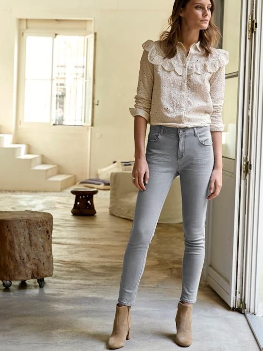 Slim 7/8ème femme : L'Indomptable Denim gris