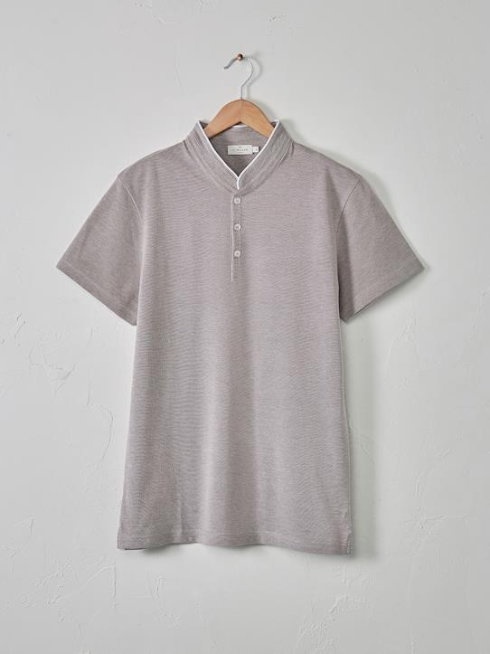 Homme-T-shirts, polos-Polo col mao homme