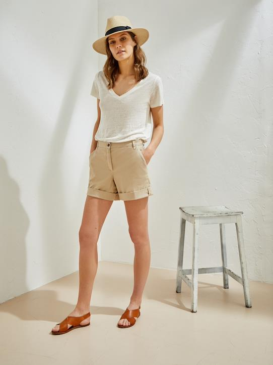 Short chino femme Make up+Outremer+Sable