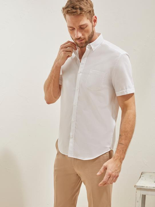 Homme-Chemises-Regular Fit-Chemise Regular Fit homme popeline unie