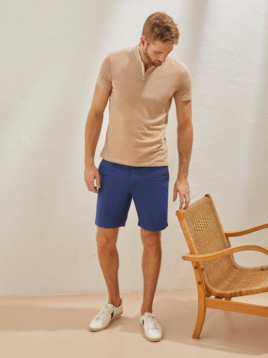 Polo col mao homme Beige+Lagon+Marine