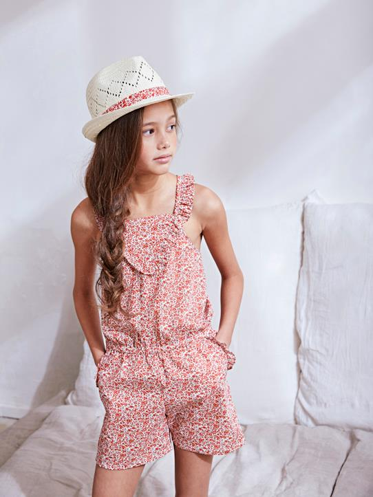 La Collection Printemps-Combi-short en tissu Liberty fille