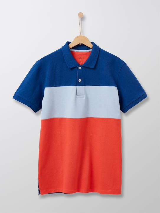 Homme-T-shirts, polos-Polo color block homme