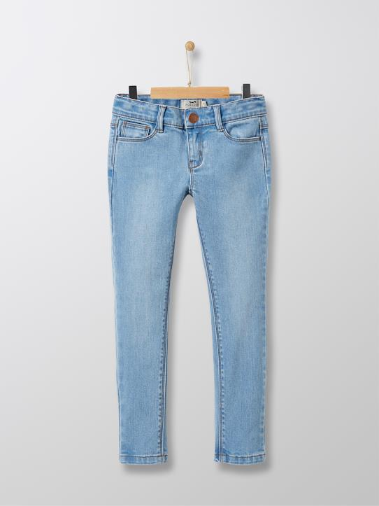 Slim denim fille Denim bleach+Denim Brut+Denim gris