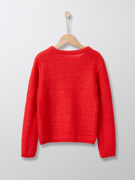 Pull vaporeux fille Canelle+Jaune moutarde+Rouge