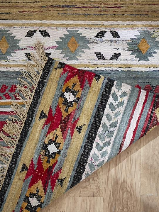 Tapis fantaisie indien - grand Multicolore