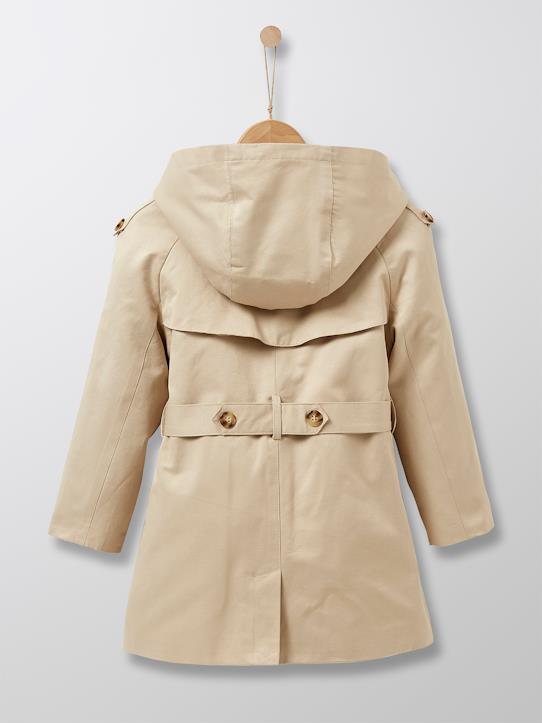 Trench fille Beige