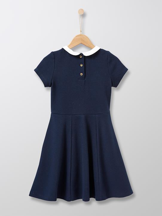 Robe patineuse fille Marine