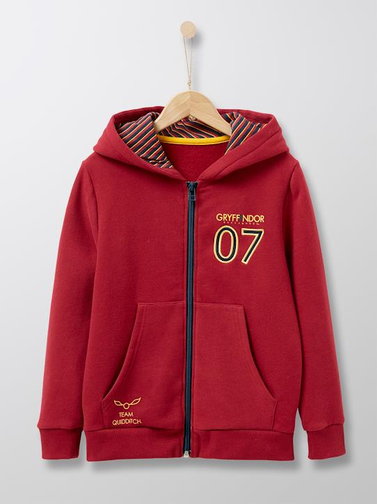 Sweat zippé collection Harry Potter Bordeaux
