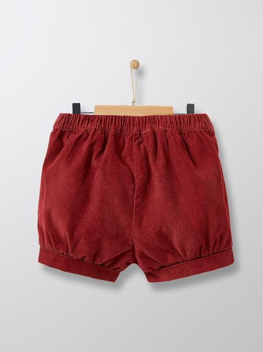 Short boule en velours bébé Bordeaux