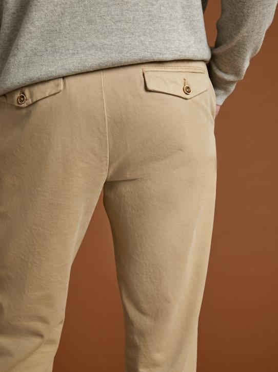 Chino Regular Fit homme Beige+Marine+Safran